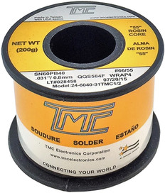 "200g. Solder Wire, 60/40, 0.8mm/0.031""  24-6040-31TMC1/2"
