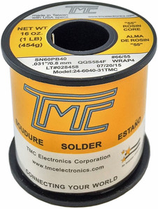 "1 lb. Solder Wire, 60/40, 1mm/0.039""  24-6040-40TMC"