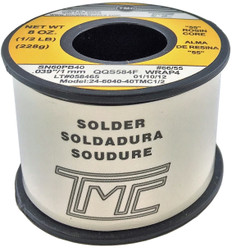 "200g. Solder Wire, 60/40, 1mm/0.039""  246040-40TMC1/2"