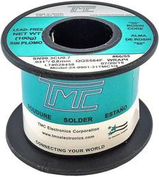 """100g. (Lead-Free) Solder Wire, 0.8mm/0.031""""  249901-31TMC1/4"""