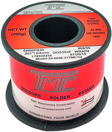 "200g. Solder Wire, 60/40, 0.8mm/0.031""  226040-31TMC1/2"