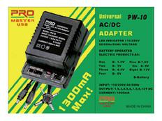 Universal AC/DC Adapter, 1000mA  PW-10