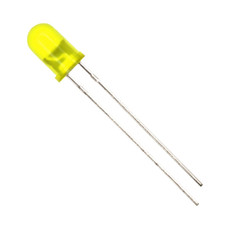 5mm Diffused Yellow LED  LED5Y