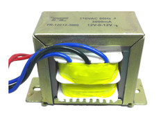 Transformer, 24V, 500mA, Center Tapped (12V-0V-12V)  TR-12012-500