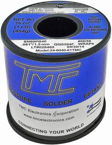 """1 lb. ALUMINUM Solder Wire, 60/40, 1.5mm/0.062""""  246040-AL61TMC"""