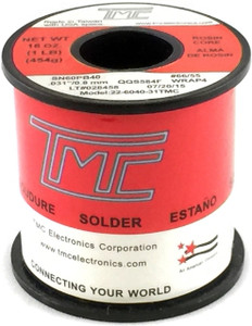 "1 lb. Solder Wire, 60/40, 1mm/0.039""  22-6040-40TMC"