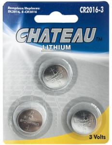 Lithium Battery CR2016 (3pcs)  CR-2016-3