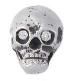 Skull w/birthstone lapel pin