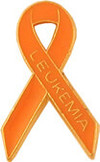 Leukemia Awareness Ribbon Lapel Pin