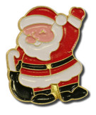 Santa Waving Lapel Pin