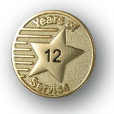 Years of Service Lapel Pin