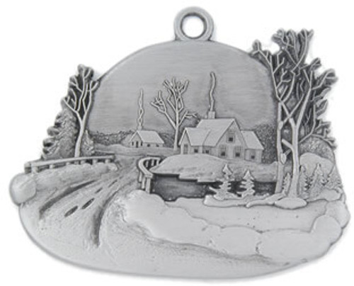 Winter Town Holiday Ornament