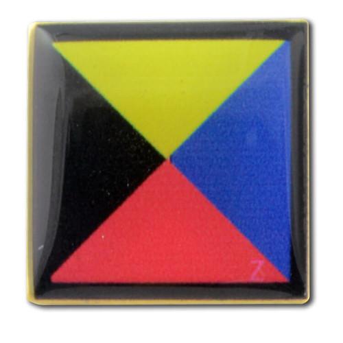 Nautical Code Flag Lapel Pin - Z - Zebra