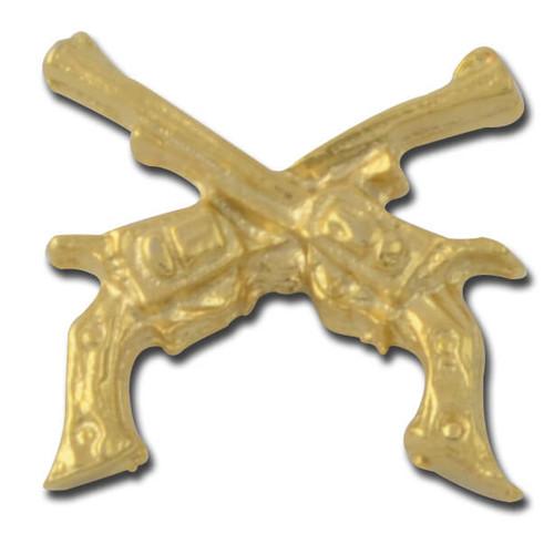 Crossed Guns Lapel Pin