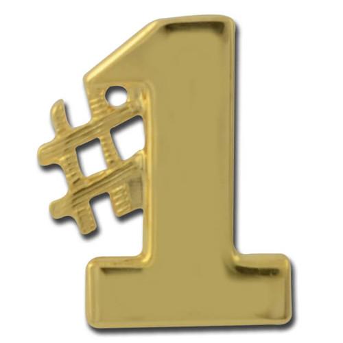 No 1 Lapel Pin