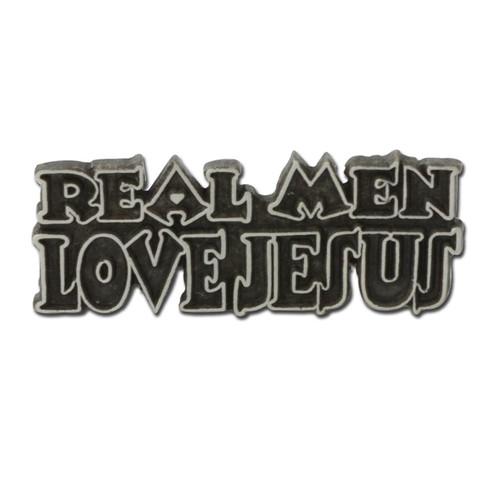 Real Men Love Jesus Pin