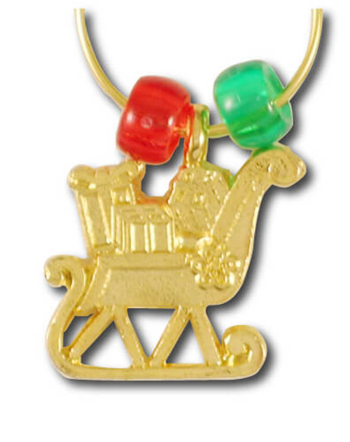 Sleigh Wine Charm - Single