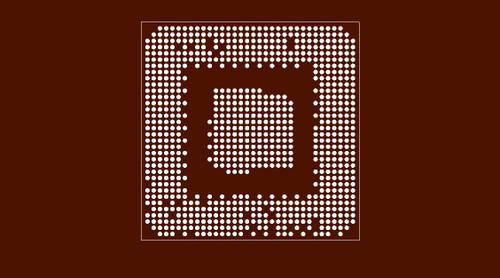 Reballing preform Core Duo Chipset