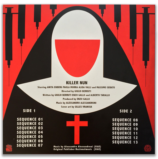 ALESSANDRO ALESSANDRONI Killer Nun Original Motion Picture Soundtrack LP