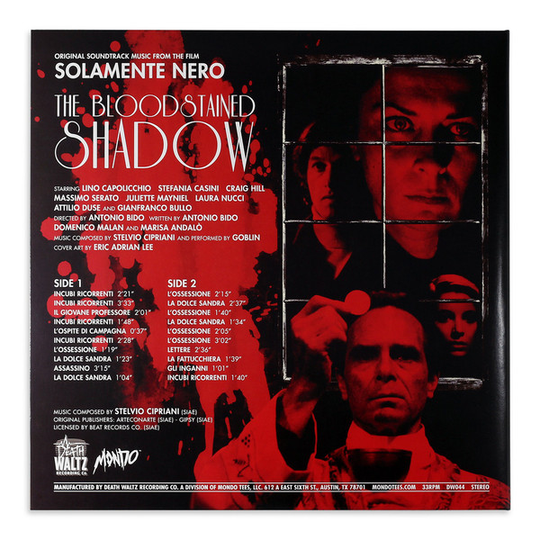 GOBLIN/STELVIO CIPRIANI The Bloodstained Shadow LP