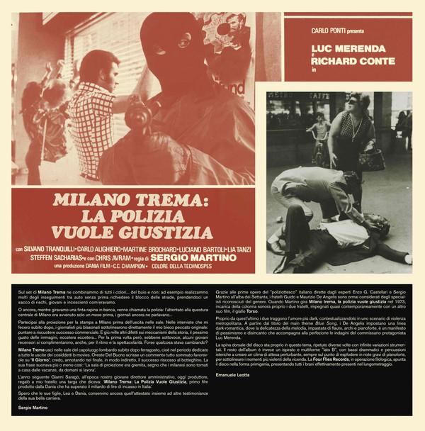 GUIDO & MAURIZIO DE ANGELIS: Milano Trema: La Polizia Vuole Giustizia (The Violent Professionals) LP