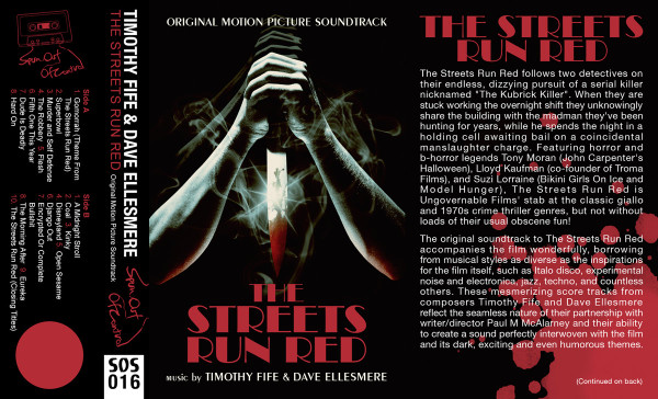 TIMOTHY FIFE & DAVE ELLESMERE: The Streets Run Red (Blood Red) Cassette
