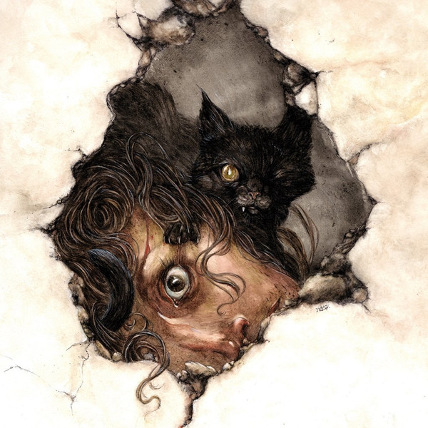 Edgar Allan Poe, The Black Cat - Read by Anthony D. P. Mann, Score by Fabio Frizzi - Deluxe edition Natural White & Black swirl