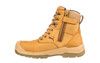 Puma Safety Boots Conquest Waterproof Wheat Zip Sided Work Boots with Composite Toe Cap