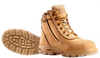 Redback Cobar Zip Sided Soft Toe Work Boots in Wheat Nubuk (UCWZ)