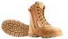 Redback Kingaroy Zip Sided Steel Toe Work Boots with Scuff Cap in Wheat Nubuk (USKWZS)