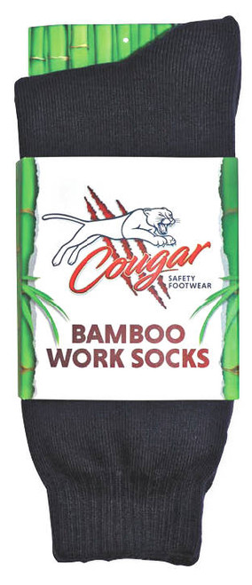 Cougar Mens Bamboo Socks 5 Pack Black