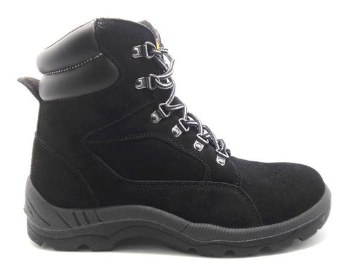 Diadora Asolo Steel Toe Cap Safety Work Boots in Black Leather