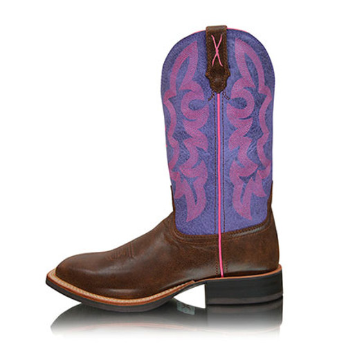 Twisted X Women's Ruff Stock Brown and Purple