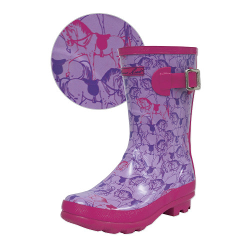 Thomas Cook Girls Pink Pony Wellingtons - Gumboots (T8W58022)