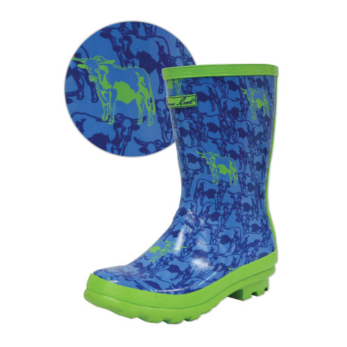 Thomas Cook Boys Fluro Bull Wellingtons - Gumboots (T8W38008)