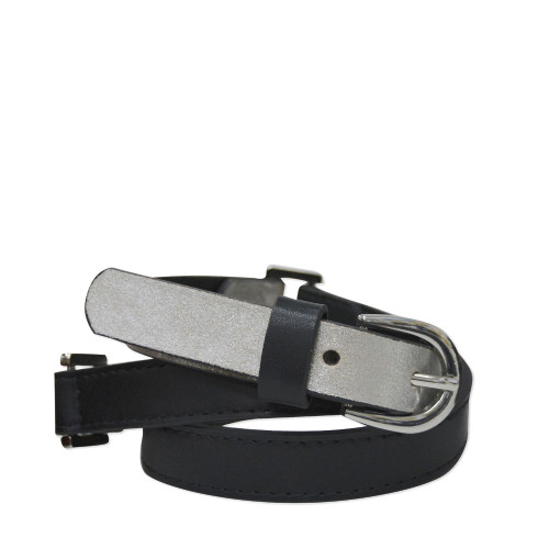 Thomas Cook Women's Chelsea Two Tone Belt in Black and Silver (T8W2912BEL SLVR)