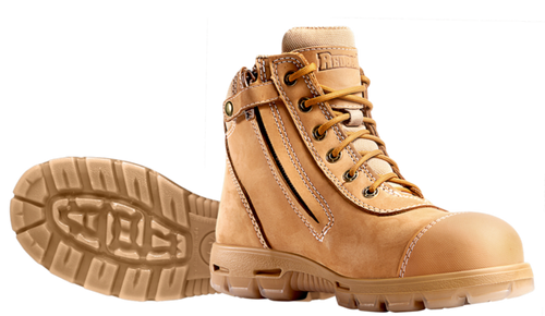 Redback Cobar Zip Sided Steel Toe Work Boots with Scuff Cap (USCWZS)