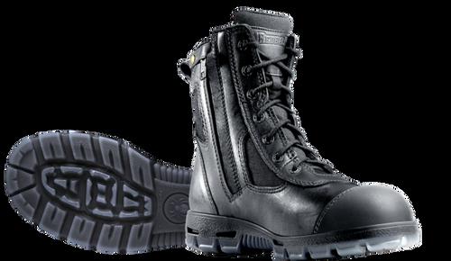 Redback Kingaroy Zip Sided Steel Toe Work Boots with Scuff Cap in Black (USKBZS)