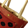 Tarini Beaded salsa red Tote