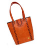 Tarini Leather Tote weave