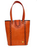 Leather Art - twin color Tote.