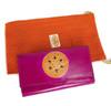 womens leather wallet Pink Mandala