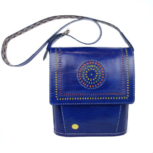 womens leather  shoulder bag Blue