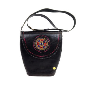 Womens Black Leather Tote