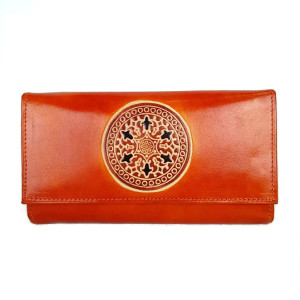 womens leather Mandala wallet