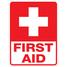 "First Aid Sign - 18"" x 24"""