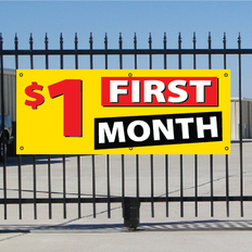 One Dollar First Month Banner - Festive