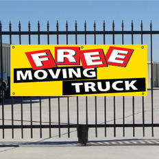 Free Moving Truck Banner - Festive