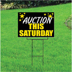 Auction This Saturday Self Storage Sign - Celebration