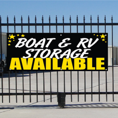 Boat & RV Storage Available Banner - Celebration